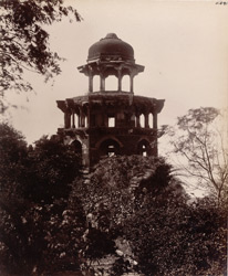 Agra. Battis Khambha. Octagonal tower on the east bank of the Jumna from the north-east